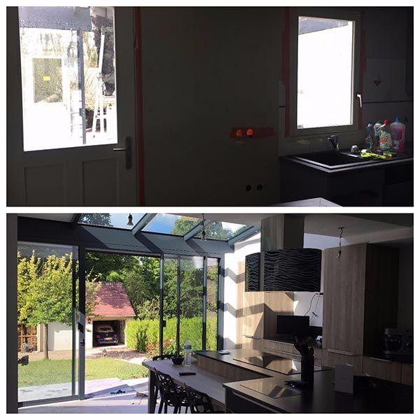 veranda surface habitable trendy en bois en aluminium en